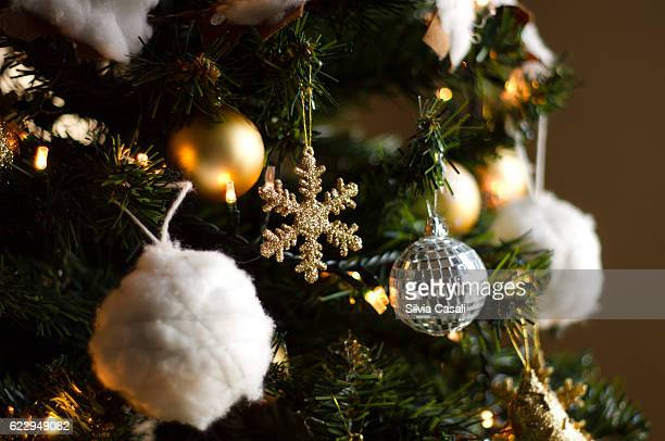 christmas tree decorations - silvia casali stock pictures, royalty-free photos & images