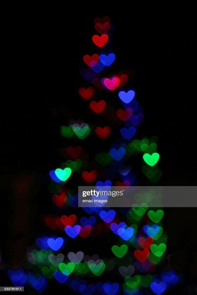 Christmas tree hearts : Foto stock