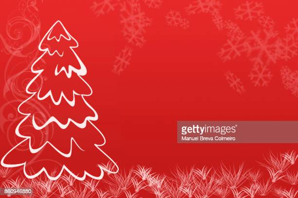 christmas tree illustration - holiday card stock photos and pictures