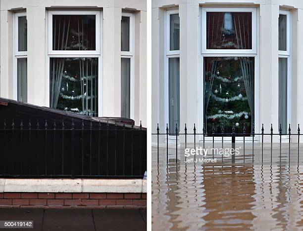 COMPOSITE IMAGE In this composite a comparison has been made between a a Christmas tree in window of a stricken home in Carlisle photographed on...