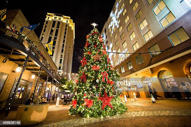 Christmas Tree in Fulton Square is decorated for Christmas on December 3, 2014 in New Orleans, Louisiana.