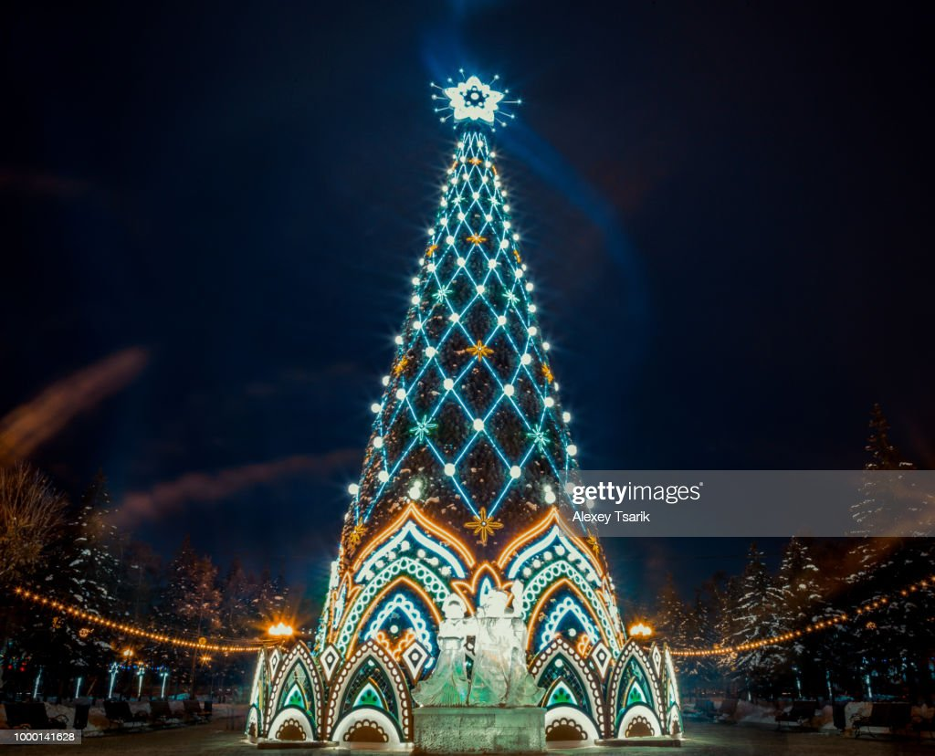christmas tree in russian style stock photo getty images