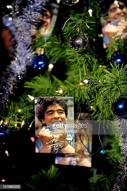 A Christmas tree is seen at the Maradonian Church The hand of God a religion dedicated to the Argentina's greatest ever soccer player Diego Maradona...