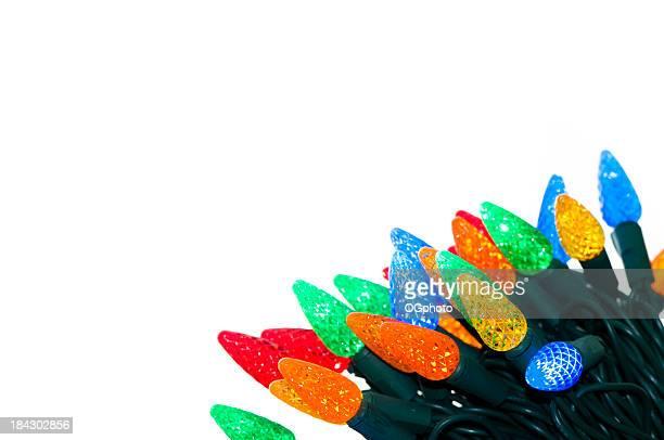 albero di natale luci - ogphoto foto e immagini stock