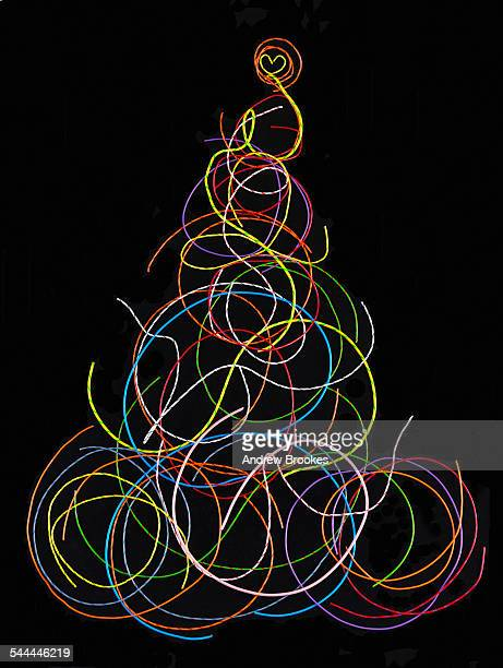 Christmas tree made up of electrical wires