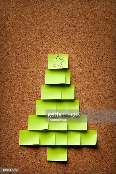 Christmas tree on Corkboard