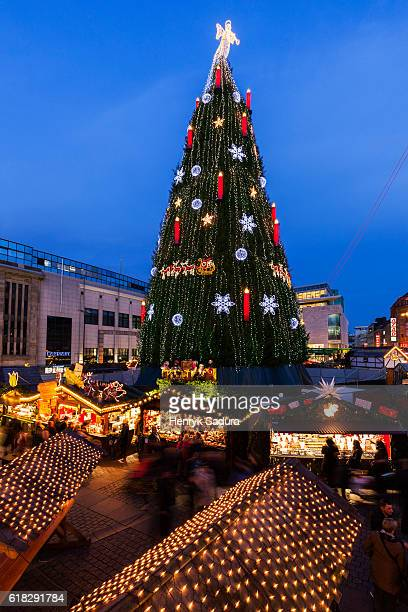 Christmas tree on Hansaplatz in Dortmund