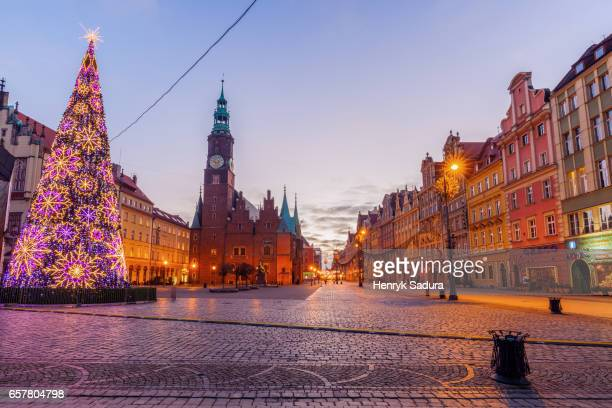 Christmas tree on Market Square in Wroclaw