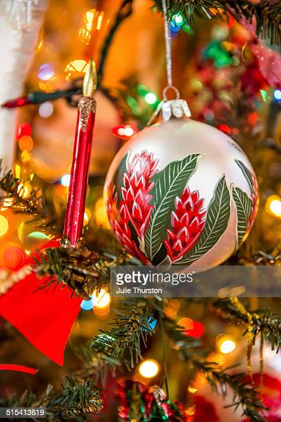 christmas tree ornament - hawaii christmas stock pictures, royalty-free photos & images