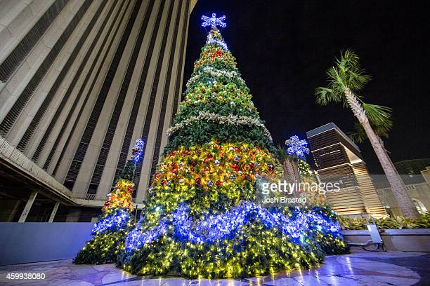 Christmas Tree outside of the Riverwalk Mall is decorated for Christmas on December 3, 2014 in New Orleans, Louisiana.