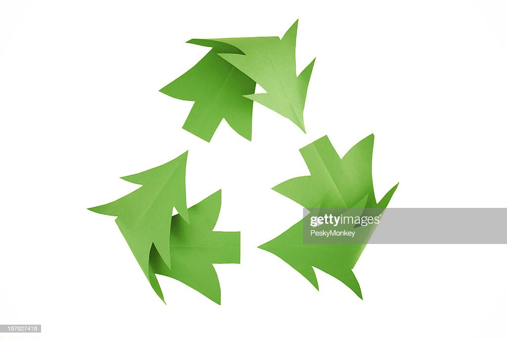 Christmas Tree Recycling Symbol on White : Stock Photo
