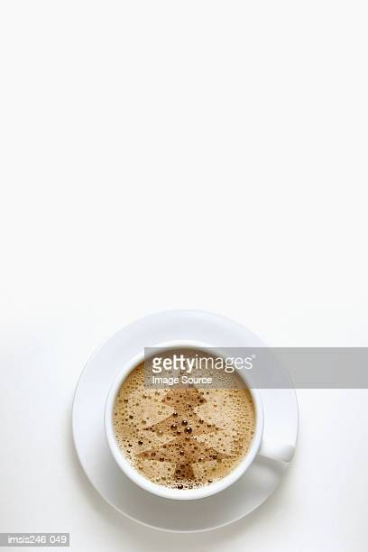 Christmas tree shape in coffee