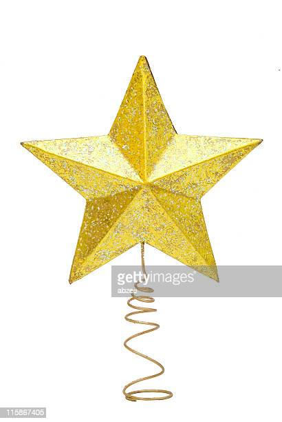 christmas tree star - christmas star stock photos and pictures
