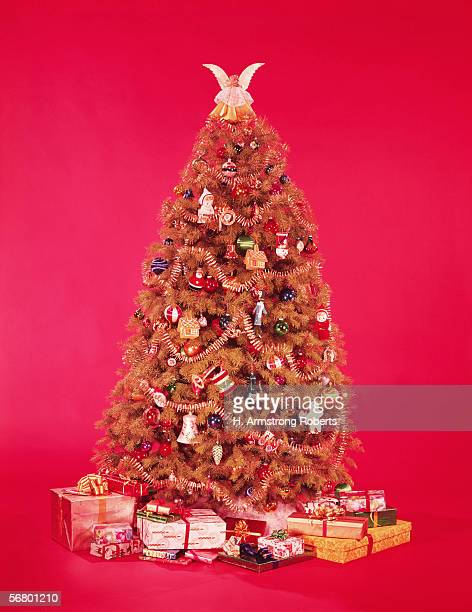Christmas tree surrounded by presents