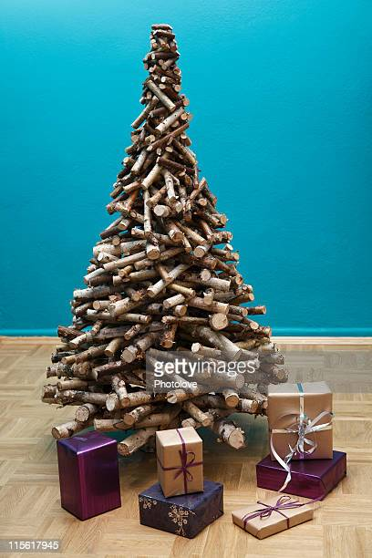 christmas tree with presents underneath