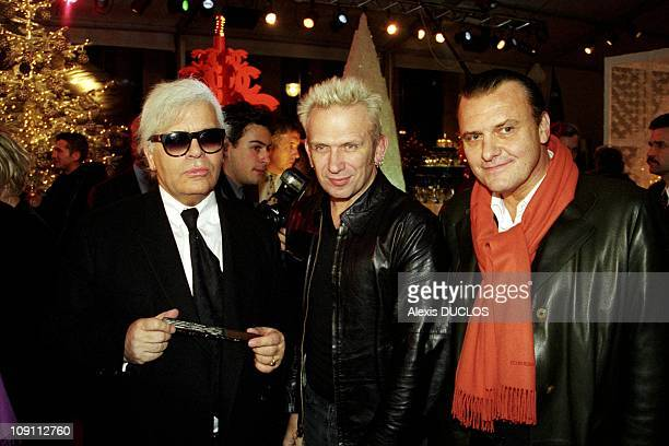 Christmas Trees By Fashion Designers On December 15Th 1999 In Paris France Karl Lagerfeld JeanPaul Gaultier JeanCharles De Castelbajac