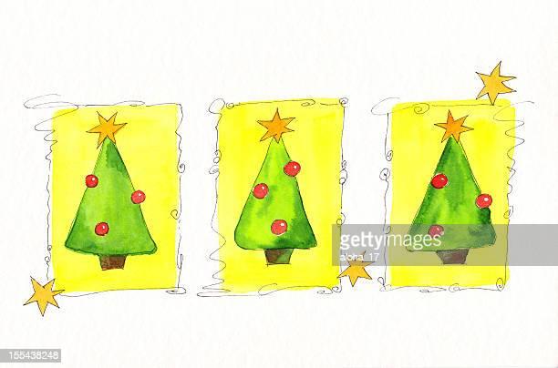 Weihnachten trees Grußkarte