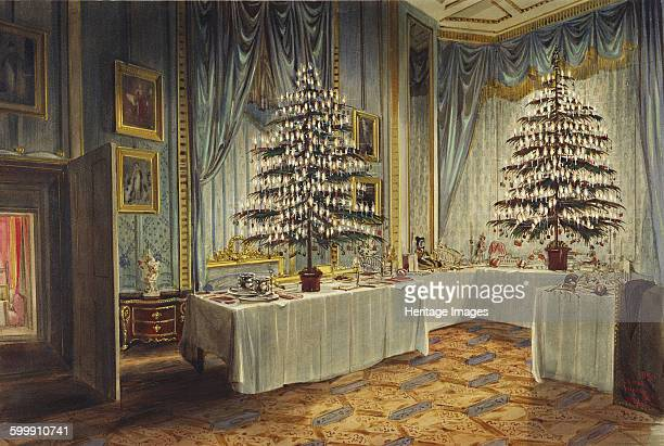 Christmas trees of the Duchess of Kent and the royal children at Windsor Castle, 1850. Found in the collection of Royal Collection, London. Artist :...