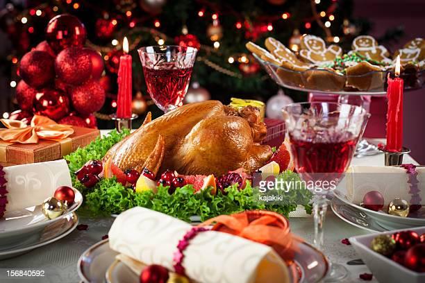 Cena di tacchino di Natale