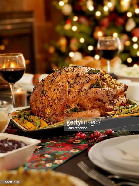 クリスマスの七面鳥ディナー