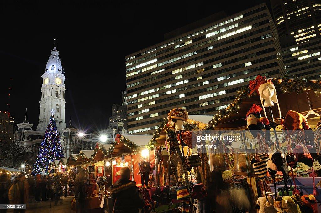 Christmas Village Philadelphia.Christmas Village In Philadelphia Stock Photo Getty Images
