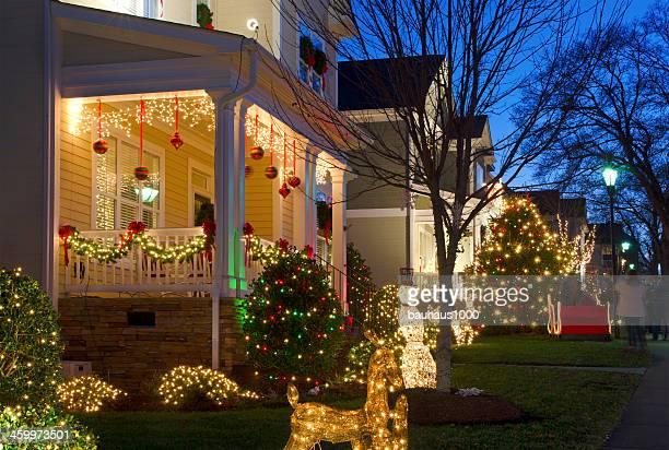 christmas village - southern christmas stock pictures, royalty-free photos & images