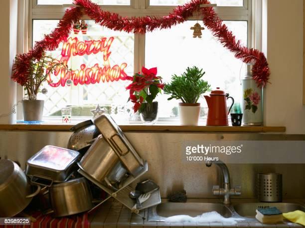 Christmas washing up