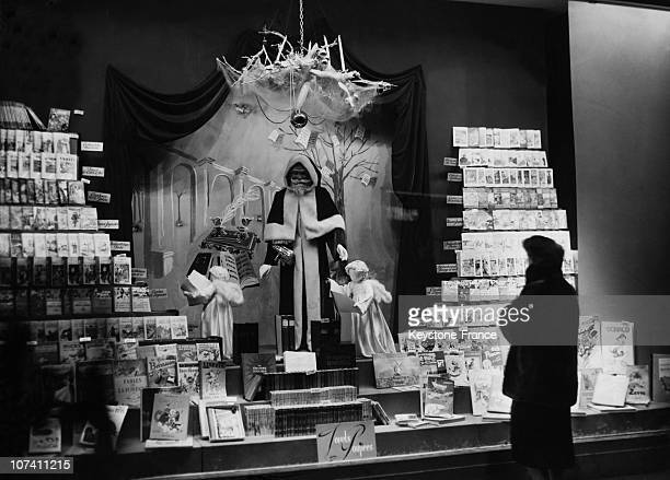 Christmas Window Of A Big Shop In Paris On December 1950