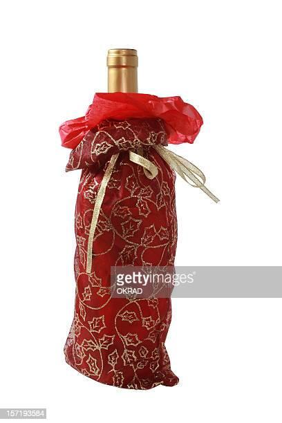 Weihnachten Wein-Tasche, isoliert auf weißem Hintergrund