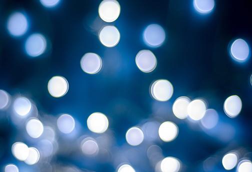 Christmas Winter Bokeh Light Blue Tones Background - gettyimageskorea