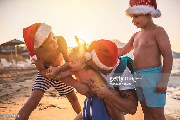 Christmas with my boys at the beach