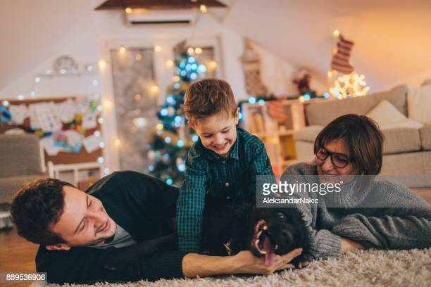 Noël avec ma famille et notre chien
