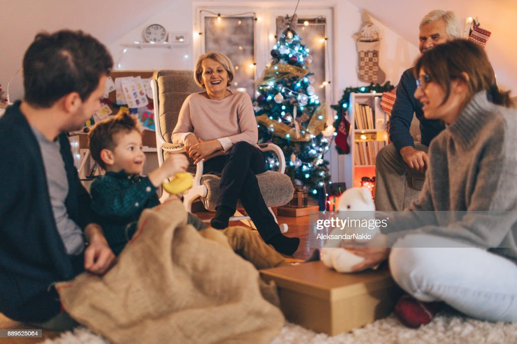 Christmas with my whole family : Stock Photo