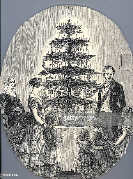 Christmas with Queen Victoria Prince Albert their children and Queen Victoria's mother in 1848 1848 Found in the collection of Royal Collection...