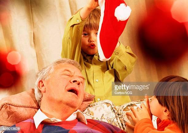 Christmas with Sleepy Grandfather