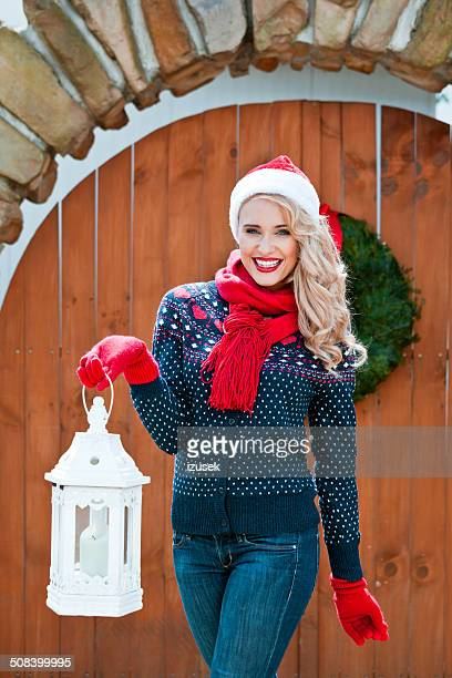 Christmas Woman with Lantern