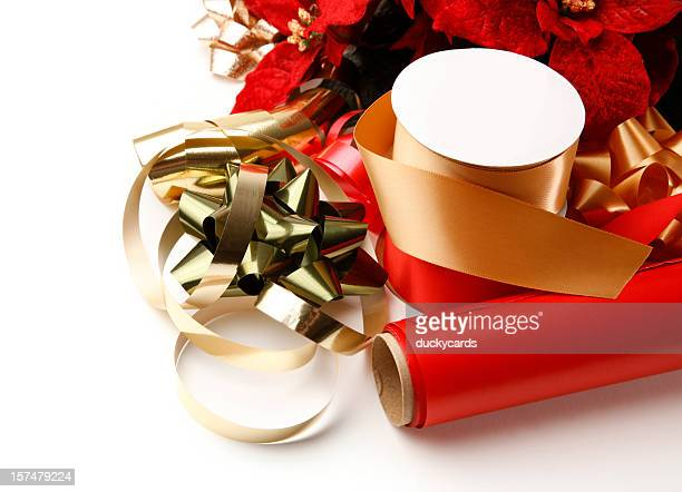 Christmas Wrapping Paper and Ribbons