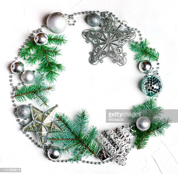 Christmas wreath Christmas holiday background with copy space