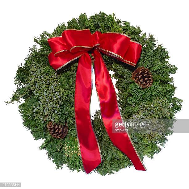 Weihnachtskranz Isoliert
