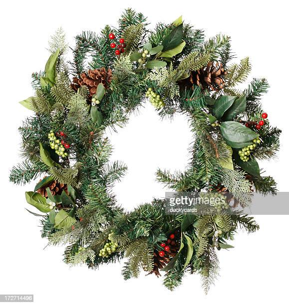 christmas wreath - wreath stock pictures, royalty-free photos & images