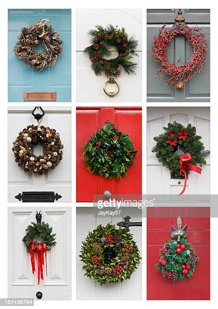 christmas wreaths - wreath stock pictures, royalty-free photos & images