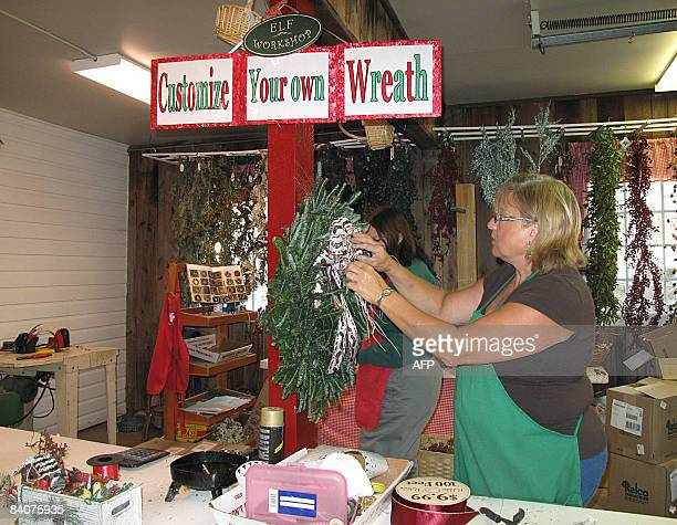 ChristmaslifestyleUSfarmart Field of evergreens Americans go back to roots of Christmas By Karin Zeitvogel Sheila St Clair fashions a wreath in the...