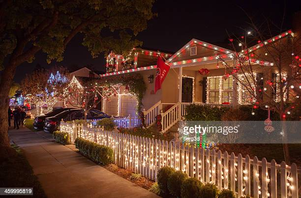 Christmass. Decorated Houses.