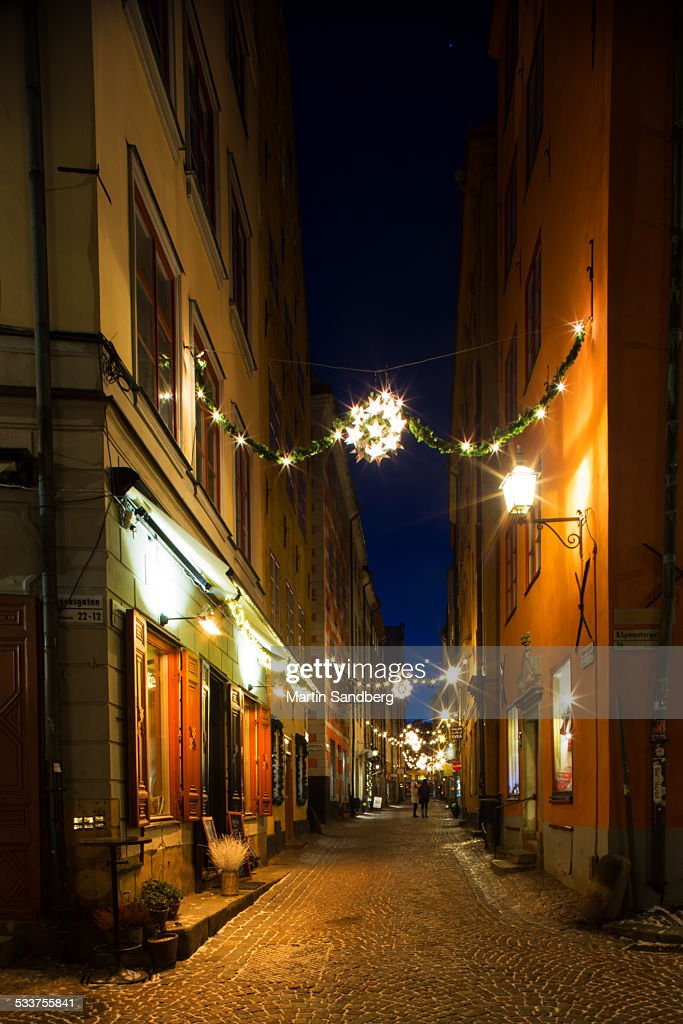 Christmastime in the old town : Foto stock