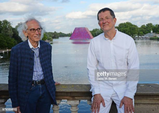 Christo and Antony Gormley attend a predrinks reception ahead of the annual Serpentine Summer Party in partnership with Chanel at The Serpentine...