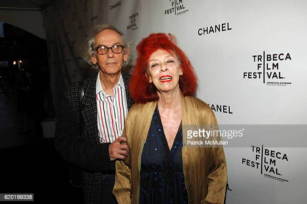 Christo and JeanClaude attends CHANEL TRIBECA FILM FESTIVAL DINNER at AGO at The Greenwich Hotel on April 28 2008 in New York City