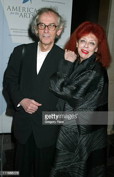 Christo and Jeanne Claude during Americans For The Arts 8th Annual National Arts Awards Gala at Mandarin Oriental Hotel in New York City New York...