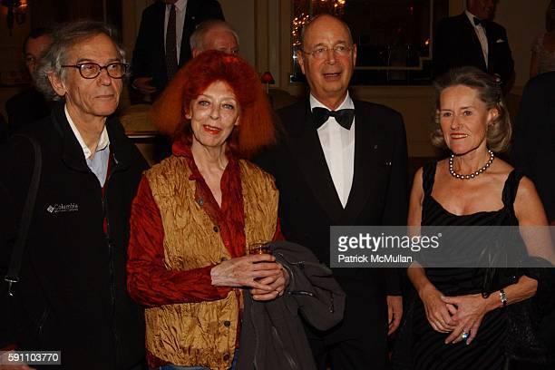 Christo JeanneClaude Klaus Schwab and Hilde Schwab attend Transatlantic Bridge Award Gala honoring Klaus Schwab at The Pierre on February 24 2005 in...