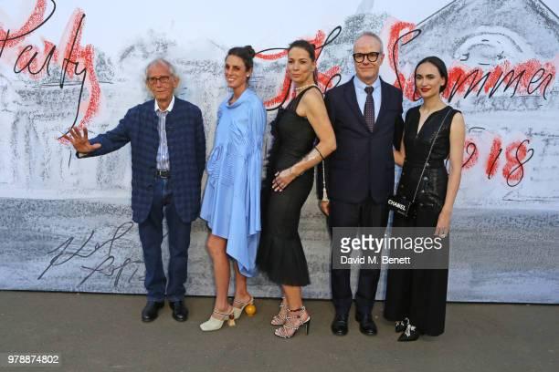Christo Lorenza Giovanelli Yana Peel HansUlrich Obrist and Frida Escobedo attend the Serpentine Summper Party 2018 at The Serpentine Gallery on June...