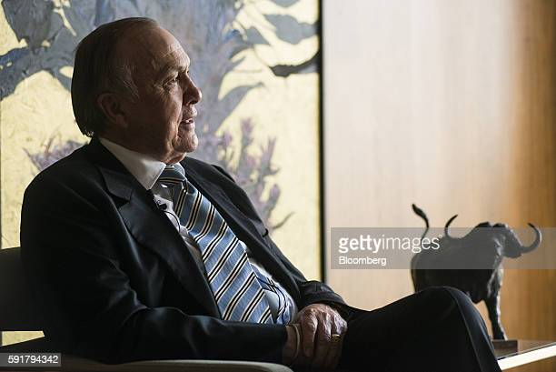 Christo Wiese billionaire and chairman of Steinhoff Holdings NV speaks during a Bloomberg Television interview at the Pepkor Holdings Pty Ltd offices...